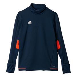 Donkerblauwe Adidas Tiro 17 sweater junior