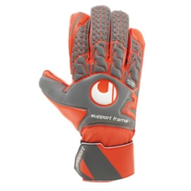 Rode Uhlsport keepershandschoenen voor kinderen Support Frame