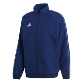 Adidas Core 18 trainingsjas blauw