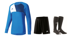 Adidas Assita junior keeperstenue blauw