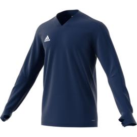 Blauwe Adidas condivo 18 trui sweater met V hals