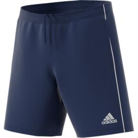 Blauwe voetbalshort Adidas Core 18 met steekzakken