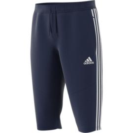 Driekwart donkerblauwe broek van Adidas TIRO 19