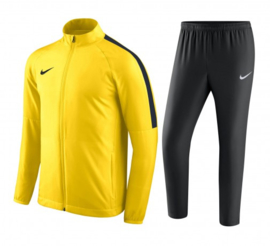 Geel Nike trainingspak junior