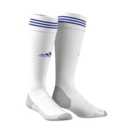 Witte adidas sokken blauwe ring