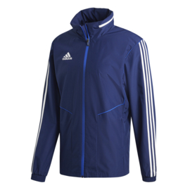 Blauwe All weather jas Adidas TIRO 19 junior