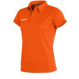 Oranje sportieve dames polo van Hummel