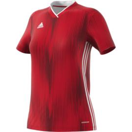 Adidas Tiro 19 rood damesshirt