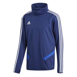 Blauwe Adidas TIRO 19 trui met hoge boord