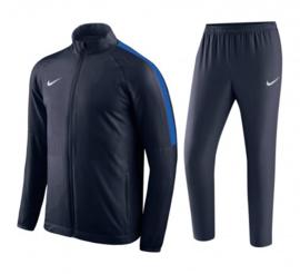 Blauw Nike trainingspak junior met blauwe bies
