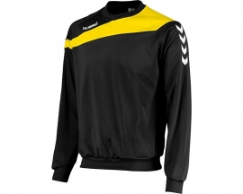 Junior Hummel Elite sweater zwart met gele bies