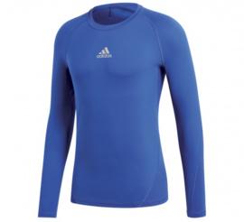 Adidas thermoshirt  blauw lange mouw