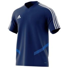 Adidas Tiro 19 junior training jersey donkerblauw shirt korte mouw