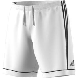 Witte voetbalbroek Adidas met zwarte strepen Squad