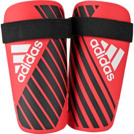 Korte rode scheenbeschermers Adidas X Lite