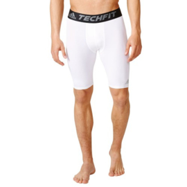 Witte korte thermobroek Adidas tech fit Base