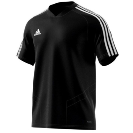 Adidas Tiro 19 training jersey zwart shirt korte mouw junior