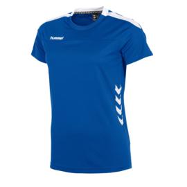 Blauw Hummel Valencia T shirt met korte mouwen voor dames