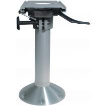"""Aluminium Mainstay """"Heavy Duty"""" stoelpoot (360º draaibaar + lock) met slede, voet Ø229mm"""