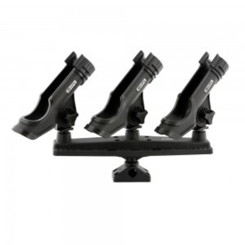 SCOTTY TRIPLE ROD HOLDER MET POWER LOCK HOUDERS