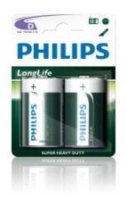 Batterij Philips D Longlife 1.5V R20
