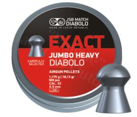 Luchtdrukkogeltjes JSB Exact Diabolo Jumbo Heavy 5.52 mm 18.13 grain
