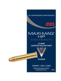 Kogelpatroon CCI Maxi Mag HP.22 WMR JHP 36 Grain