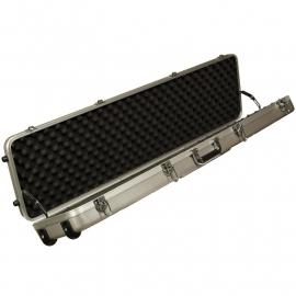 Geweerkoffer trolley grijs ABS 120x30x12 cm