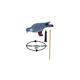 Lokduif geflockt XL 40cm + rotatie draaisysteem