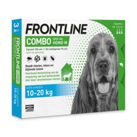 Frontline Combo Spot On 3 pipet Medium Hond 10-20 kg- Anti vlooien en tekenmiddel