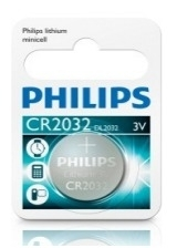 Batterij Philips/Varta CR2032 Lithium 3 Volt