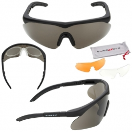 Schietbril SwissEye Raptor Black