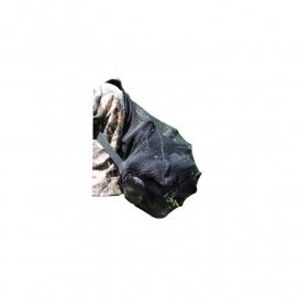 Lokvogel rugzak zwart grofmazig 70x90 cm