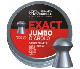 Luchtdrukkogeltjes JSB Exact Diabolo Jumbo 5.5 mm 15.89 grain