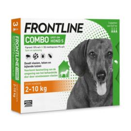 Frontline Combo Spot On 3 pipet Small Hond 2-10 kg- Anti vlooien en tekenmiddel