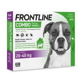 Frontline Combo Spot On 3 Pipet Large Hond Large 20-40 kg- Anti vlooien en tekenmiddel