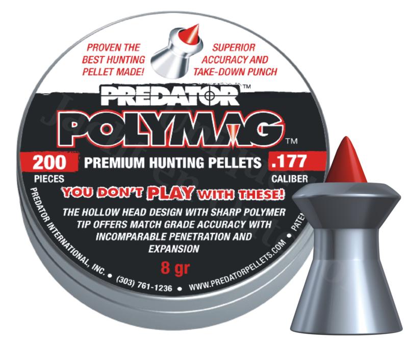 Luchtdrukkogeltjes Predator Polymag 4.5 mm 8 grain
