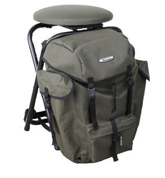 Heavy Duty Backpack Chair / Rukzakstoel met roterende zitting 360 °