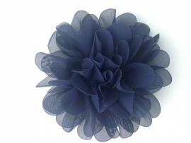 Haarbloem navy blauw 11 cm