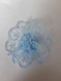 Rozetten  35 mm blauw