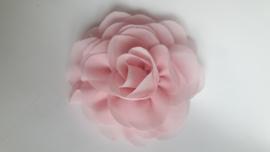Haar roos 9cm licht roze