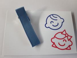 Grijs blauw  5 cm alligator met anti slip