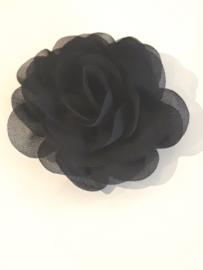Chiffon bloem zwart
