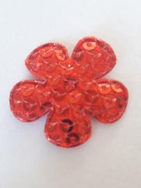 Bloem 2.5 cm rood pailetten