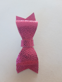 glitter roze strik met patroon strik