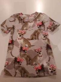 jurkje met chiwawa maat 128/134 trico