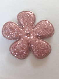 Bloem 3.5 cm lila glitter