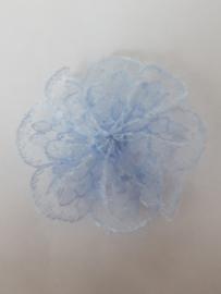 Rozetten  35 mm licht blauw