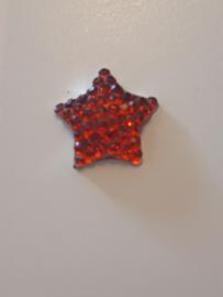 Ster flatback glinster rood