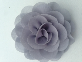 Haar roos 9cm grijs